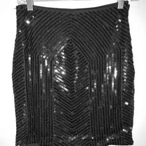 Bebe sequin skirt